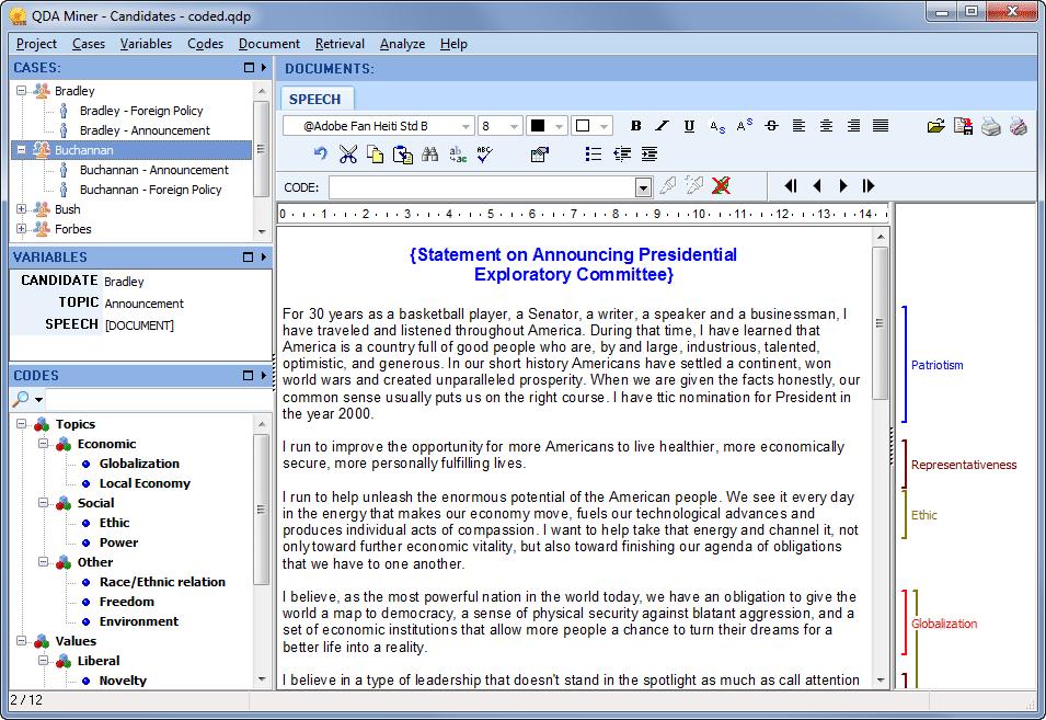QDA Miner Lite - Freeware