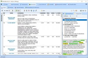 WordStat: topic modeling