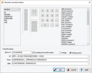 QDA Miner - Numerical transformation